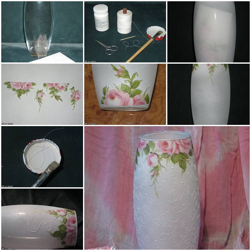 How to paint a beautiful glass jar diy tutorial for How to paint glass jars ideas