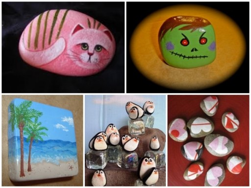 How to paint beautiful rock painting decoration step by step DIY tutorial instructions thumb