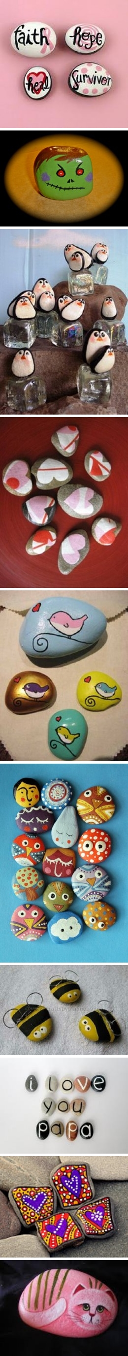 How to paint beautiful rock painting decoration step by step DIY tutorial instructions
