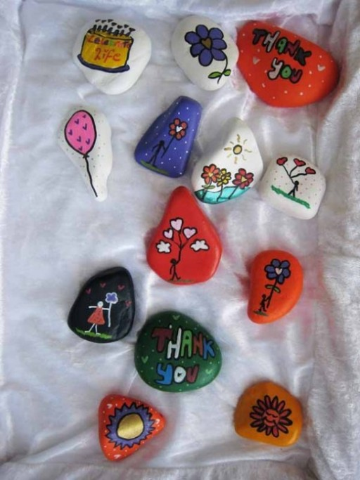 How To Paint Beautiful Rock Painting Step By DIY