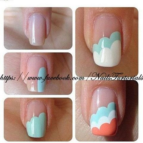 How to paint simple cute nail art manicure step by step DIY tutorial instructions
