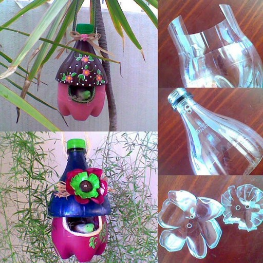 How to recycle plastic bottles into beautiful bird nests
