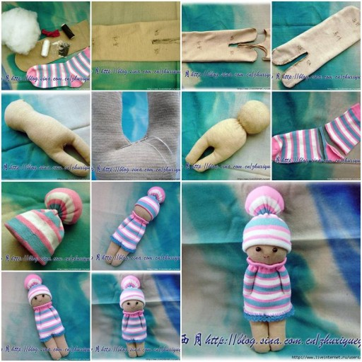 How to sew a cute Doll step by step DIY tutorial instructions thumb