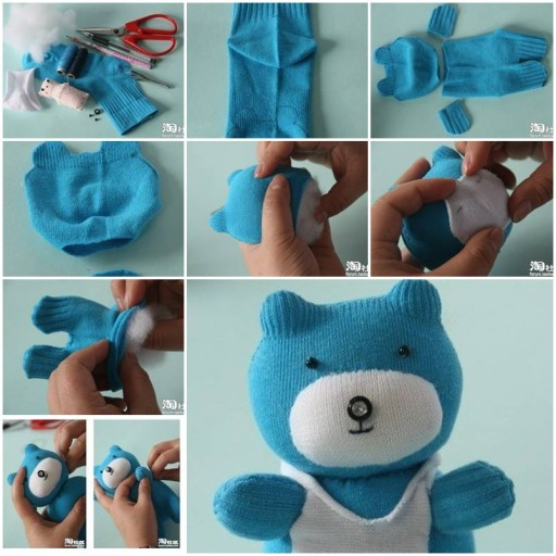 Teddy bear baby toys step by step diy tutorial for Step by step to build a house yourself