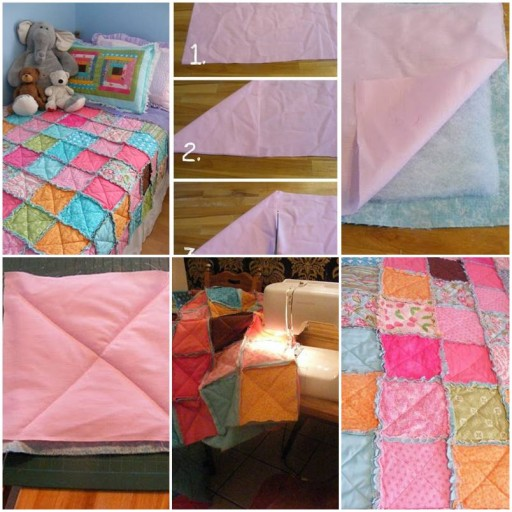 How to sew pretty Blankets with custom patches DIY tutorial instructions thumb