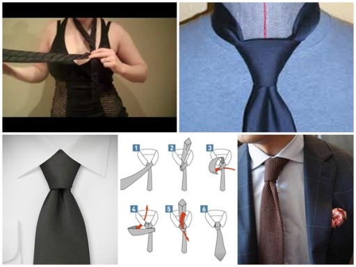 How to tie a tie - how to tie a half windsor knot step by step DIY tutorial instructions