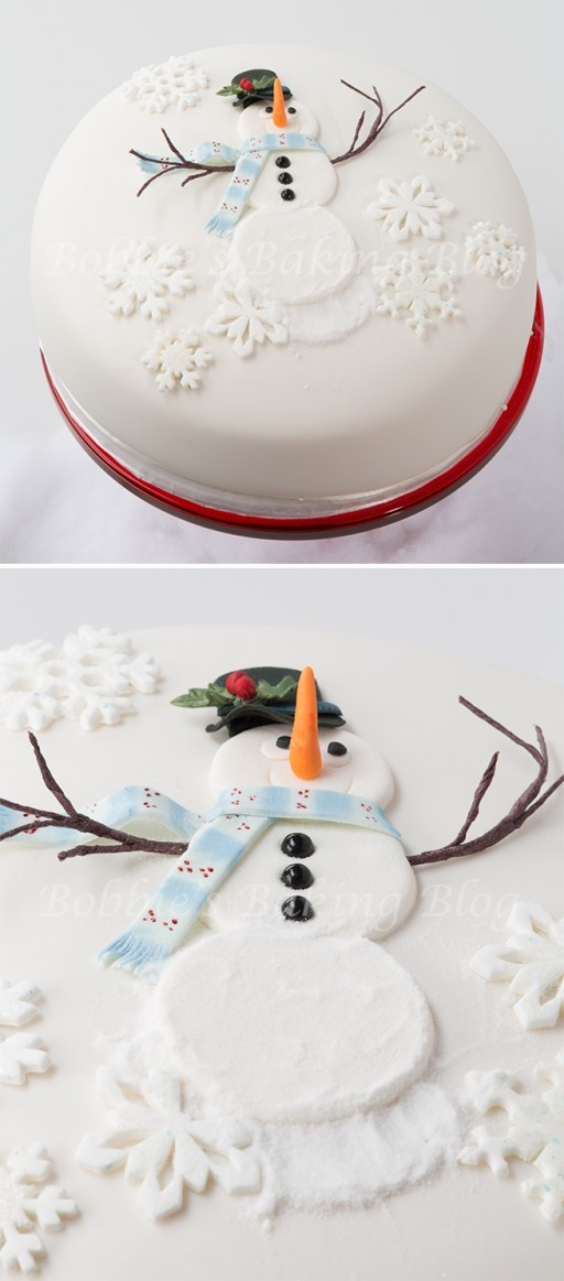 cake decorating classes - How to decorate snowman cake for Christmas holiday step by step DIY tutorial instructions
