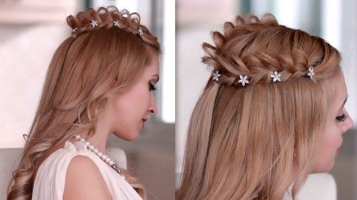 Cosplay hair style: how to braid crown hairstyle for medium long hair step by step DIY tutorial instructions