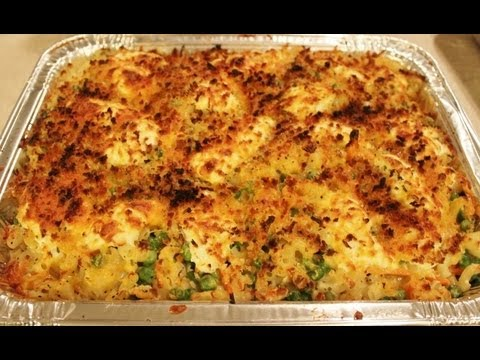 Culinary class – How to cook four cheese baked vegetable Mac and Cheese step by step DIY tutorial instructions