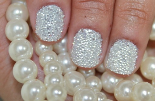 How to do 3D pearl Nail art manicure step by step DIY tutorial instructions