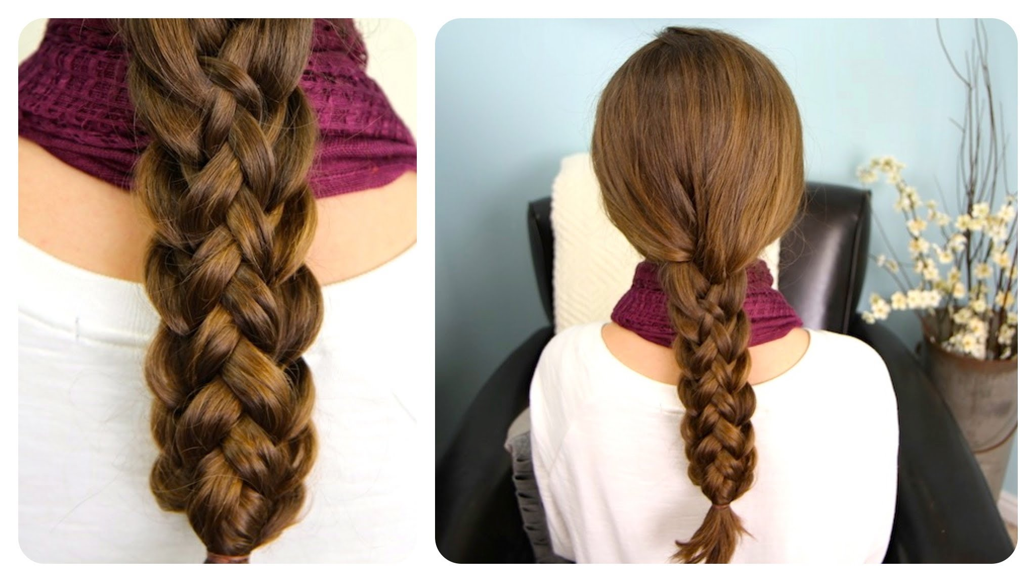 How to do cute stacked braids hairstyles for long hair DIY tutorial