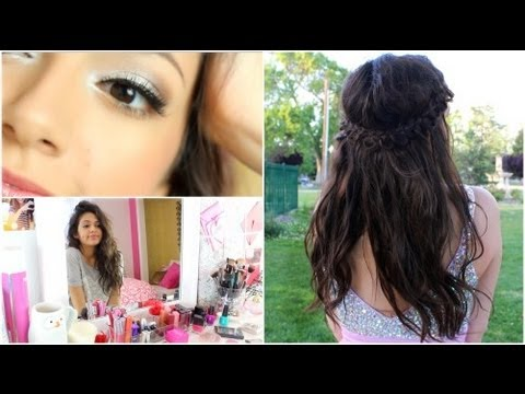How to do prom hairstyles, dresses, and makeup step by step DIY tutorial instructions