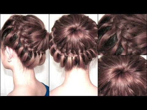 How to do Star burst Explosion Updo braid hairstyles step by step DIY tutorial instructions