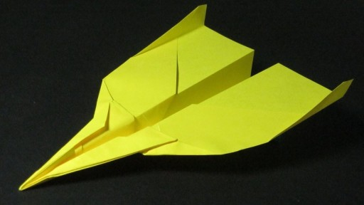 how to make a Paper Airplane Jet that Flies Far DIY tutorial step by step instructions