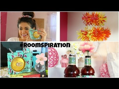 How to make fabulous Room Decorations using water bottles & soda cans step by step DIY tutorial instructions