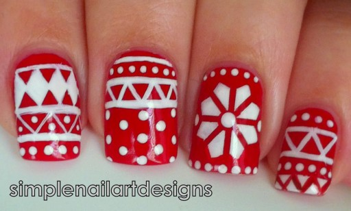 how to make pretty Holiday Sweater Nail Art DIY tutorial step by step instructions