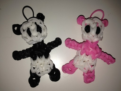 How to make Rainbow Loom Panda DIY tutorial step by step instructions