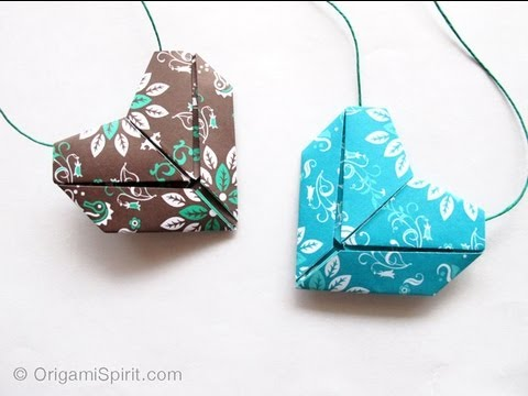 how to make simple lovely origami hearts DIY tutorial step by step instructions