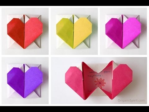 how to make simple romantic origami heart boxes DIY tutorial step by step instructions