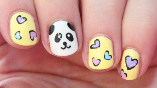 How To Paint Cute Panda Nail Art Diy Tutorial Step By Step Instructions How To Instructions