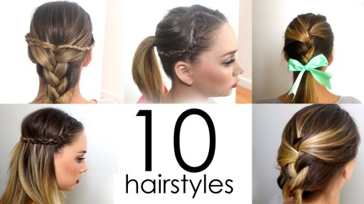 10 quick and simple everyday hairstyles in 5 minutes