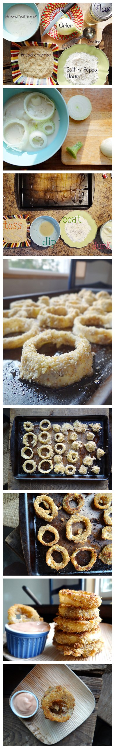 Cooking classes - How to bake health onion rings step by step DIY tutorial instructions