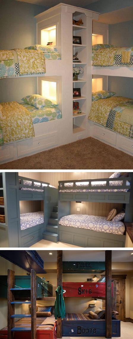 Corner bunk bed design idea collection (thousands of ideas)