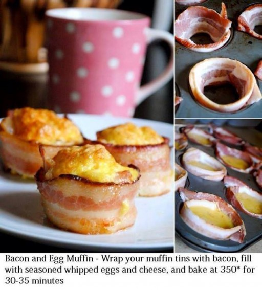 Culinary classes - How to bake Bacon and egg muffin step by step DIY tutorial instructions