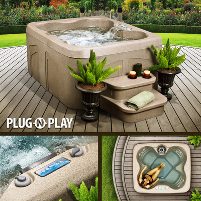 Enjoy Lifesmart Rock Solid Simplicity Plug and Play 4 Person Spa