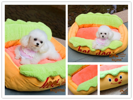 Hot Dog Sofa Pet Bed with Removable Washable Pet Mat thumb