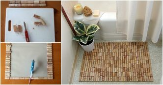 how-to-make-unique-bath-floor-mat-with-wine-corks