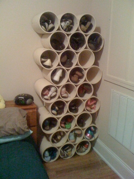 How To Build Simple PVC Pipe Shoe Storage Rack Step By