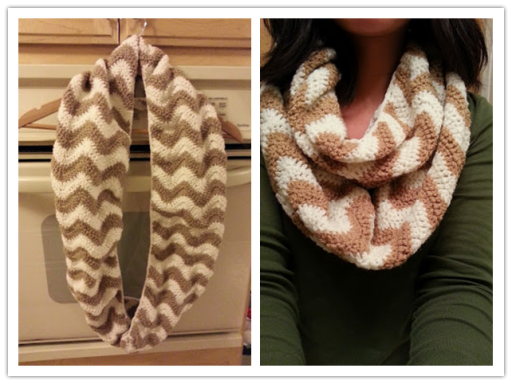 How to crochet pretty chevron pattern scarves with step by step DIY tutorial instructions