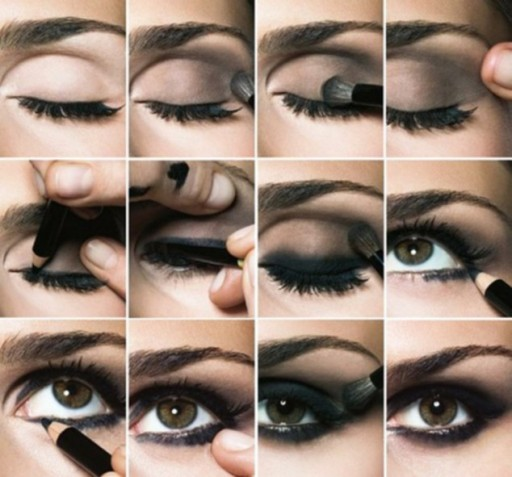 How to do attractive smokey esys makeup step by step DIY tutorial instructions