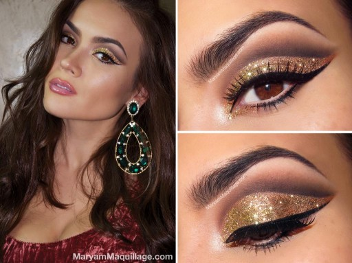 How to do pretty disco ball makeup step by step DIY tutorial instructions