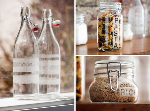 How to etch glass jars step by step DIY tutorial instructions
