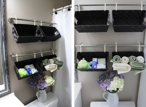 Fantastic Recycling Small Containers And Baskets, Or Buying Space Saving Storage Containers Are Two Easy Ways Of Creating Beautiful And Comfortable To Use Small Bathroom Storage Spaces Lushome Collection Of Space Saving Ideas For