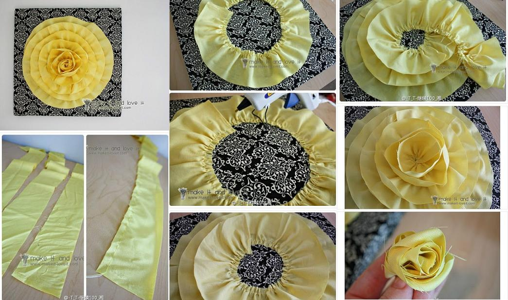 How To Make 3d Cloth Flower Decoration Step By Step Diy