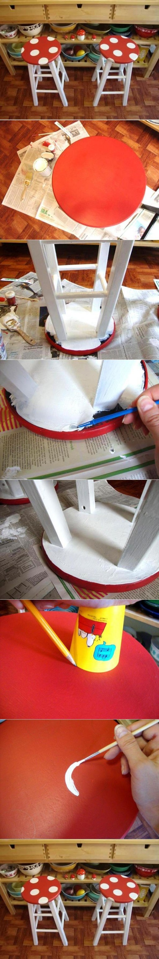 How to make Agaric Stool step by step DIY tutorial instructions