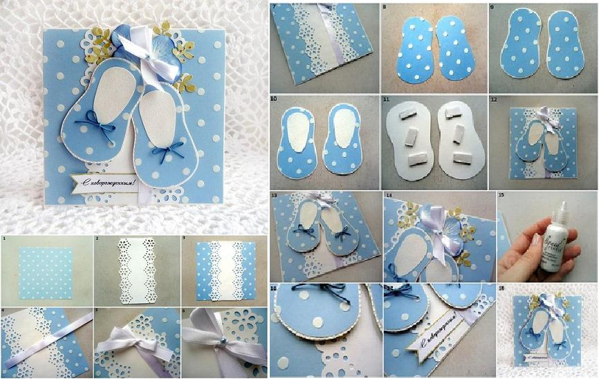 How To Make Baby Shower Card Step By Step Diy Tutorial Instructions