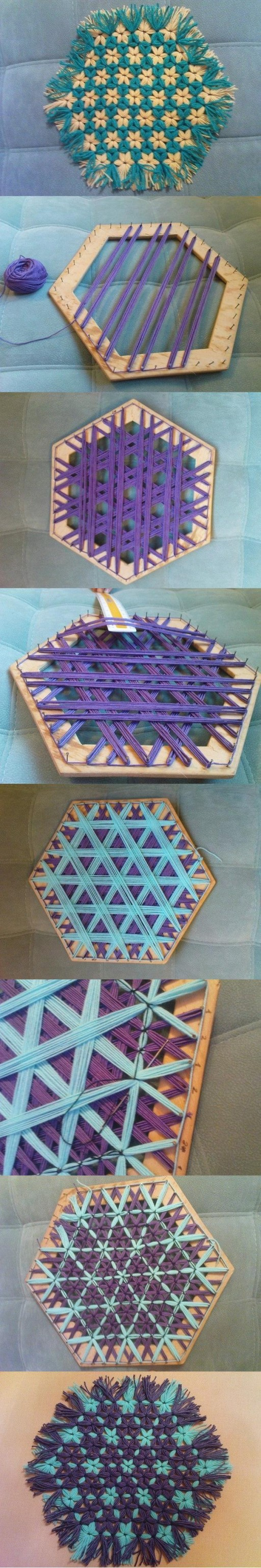 How to make Beautiful Hexagonal Coaster step by step DIY tutorial instructions