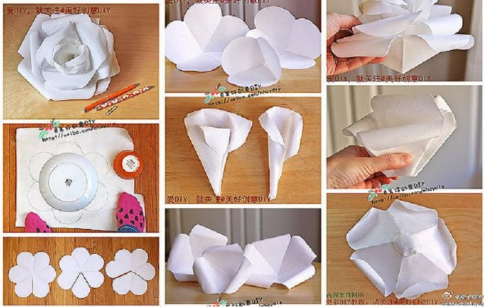 How to make beautiful modular paper rose step by step diy for Diy paper roses step by step