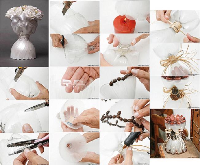 How To Make Beautiful Pet Bottle Vase Step By Step Diy Tutorial