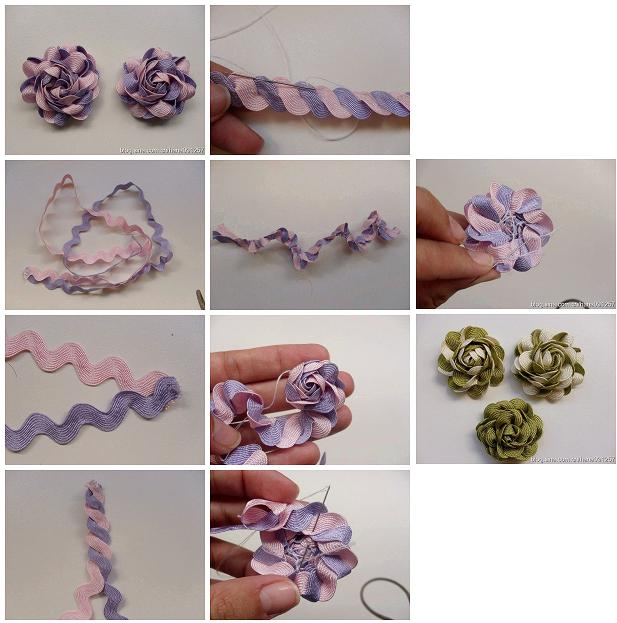 How to make beautiful ribbon flowers step by step diy for Step by step instructions on how to draw a flower