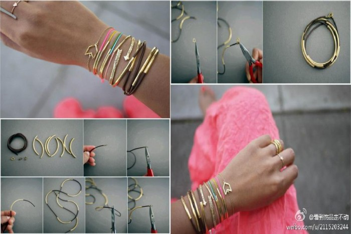 Diy wire bracelet tutorial