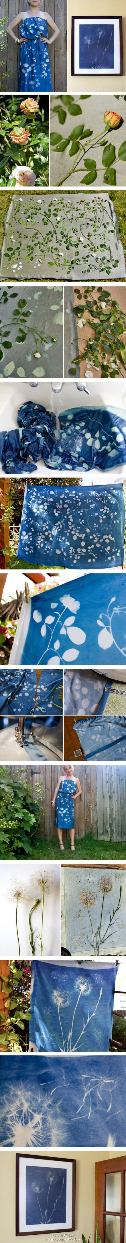 How to make Beautifully Painted Fabric step by step DIY tutorial instructions