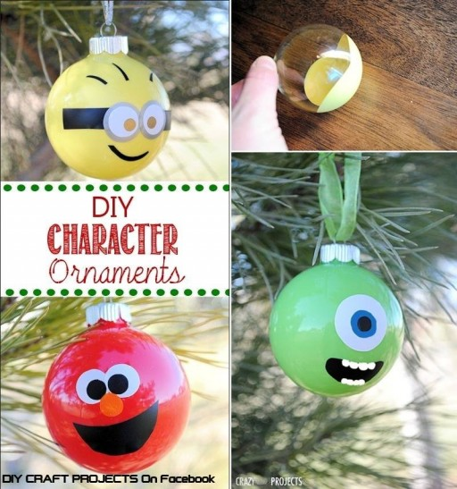 How to make Character ornaments step by step DIY tutorial instructions
