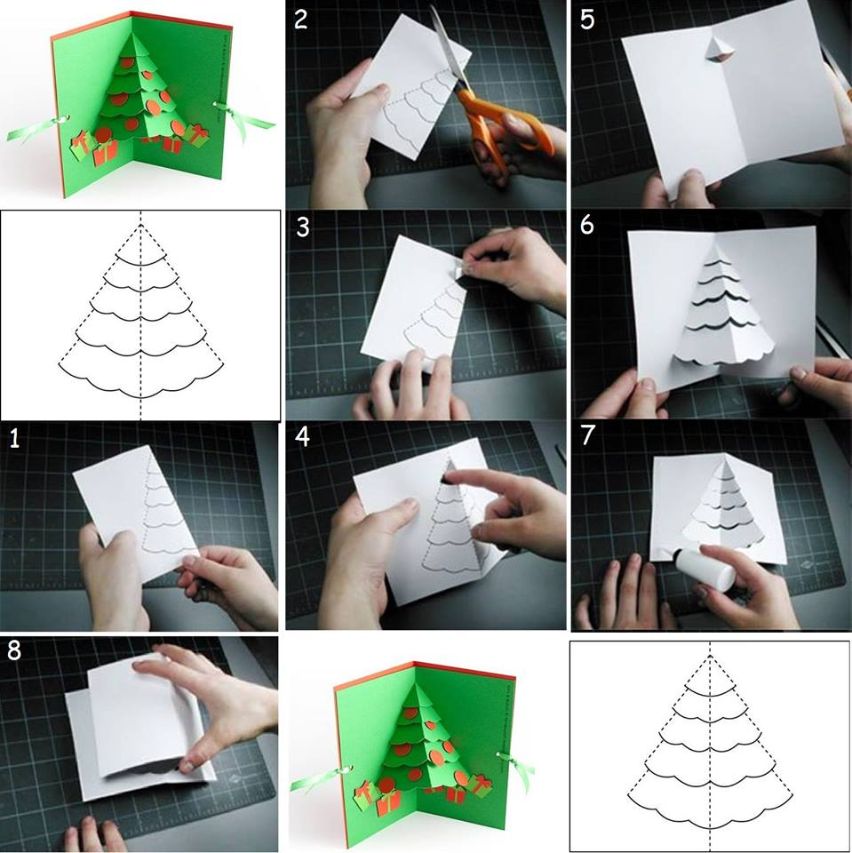 How to make Christmas cards step by step DIY tutorial instructions ...