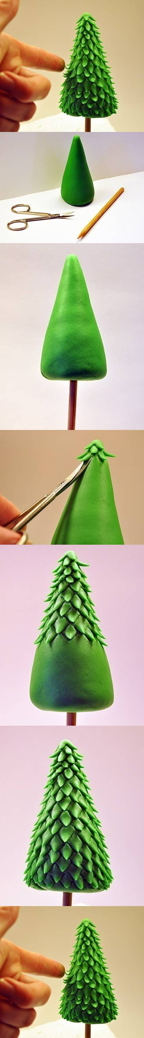 How to make Clay Christmas Tree step by step DIY tutorial instructions How to make Clay Christmas Tree step by step DIY tutorial instructions