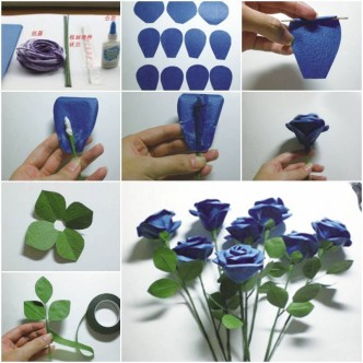 Rose how to instructions part 2 for Diy paper roses step by step